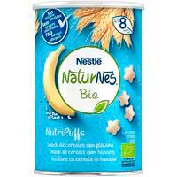 Snack de cereales-plátano bio NESTLÉ Nutripuffs, bote 35 g