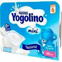 Yogolino mini natural NESTLÉ, pack 6x60 g