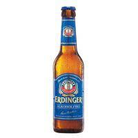 Cerveza de trigo sin alcohol alemana ERDINGER, botellín 33 cl