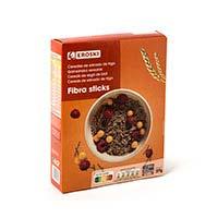 Cereales bran stick EROSKI,caja 375 g