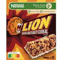 Barritas de cereales NESTLÉ Lion, caja 150 g