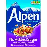 Musli sense sucreblueberry-*cherry-*almondALPEN, caixa 560 g
