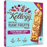 Barrita de cacao&avellana W.K. KELLOGG`S, caja 120 g