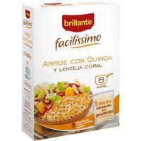 Arroz con quinoa-lenteja coral facilíssimo BRILLANTE, caja 250 g