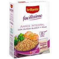 Arroz integral con quinoa facilíssimo BRILLANTE, caja 250 g