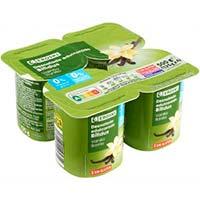 Iogurt biactive 0% matèria grassa 0% sucres afegits vainilla EROSKI, pack 4x125 g