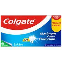 Dentífrico protección caries COLGATE, pack 2x75 ml