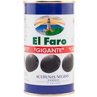 Olives negres amb os FARO, llauna 150 g