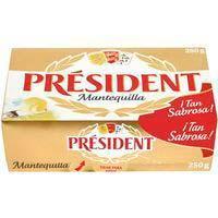 Mantequilla PRESIDENT, pastilla 250 g