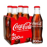 Refresc de cola COCA COLA,pack4x20cl