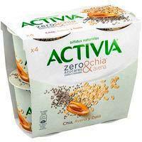 Activia zero sucres afegits chia-civada DANONE, pack 4x115 g