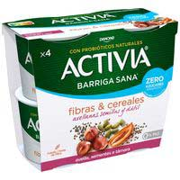 Activiazerosucreañadi. avellana-llavor DANONE,pack4x115g