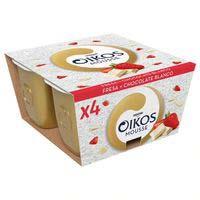 Moussede maduixa-xocolate blancOIKOS,pack4x55g