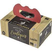 Huevo XL ecológico LIDEROU, cartón 6 uds.