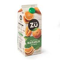 suc de taronja espremuda sense polpa ZÜ PREMIUM 1,75l