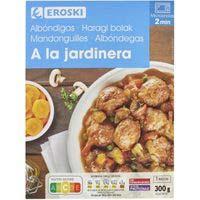 Albóndigas a la jardinera EROSKI, bandeja 300 g