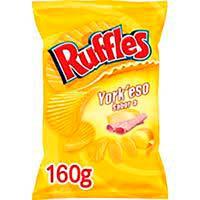 Patatas onduladas Ruffles York`eso MATUTANO, bolsa 160 g