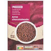 Cereales de arroz inflado chocolate EROSKI, caja 500 g