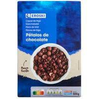 Cereals pètals de blat de xocolata EROSKI, 500 g