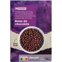 Cereals boles de xocolata EROSKI, 500 g