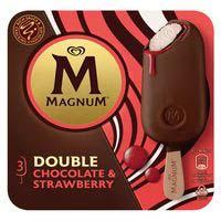 Gelat double de nata maduixa MAGNUM 219g