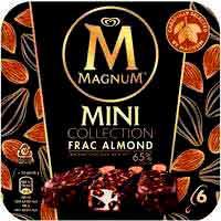 Helado mini frac de almendra MAGNUM, 6 uds., caja 276 g