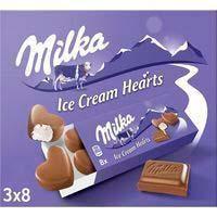 Gelat de crema tipus bombons small hearts MILKA 162g