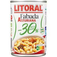 Fabada asturiana -30% sal y grasa LITORAL, lata 435 g
