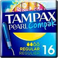 Tampó regularTAMPAXCompakPearl, caixa 16 un.