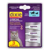 Pipetas fipronil para gato DIXIE, pack 3 uds.