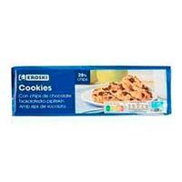 Galleta cookies sin palma EROSKI, paquete 225 g