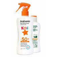 Protector solar infantil SPF50-After BABARIA, pack 1 ud.