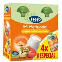 Bosseta iogurt plàtan maduixa HERO pack 4x100 g