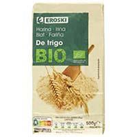 Harina de trigo ecológica EROSKI BIO, paquete 500 g