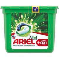 Detergent en càpsulesoxi3en1ARIEL, caixa 22 dosi