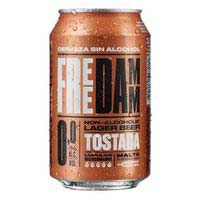 Cerveza tostada FREE DAMM, lata 33cl
