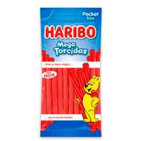 Mega torcidas de fresa HARIBO, bolsa 75 g