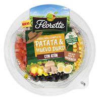 Ensalada de patata huevo duro y atún FLORETTE, bowl 335 g