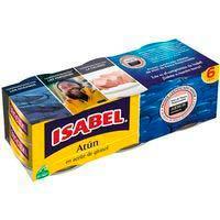 Atún en aceite de girasol ISABEL, pack 6x70 g