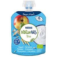 Lacti de poma i cereals NATURNES BIO, pouch 90 g