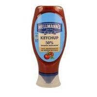 Ketchup 50% menos azucares HELLMANN'S, bote 465 g