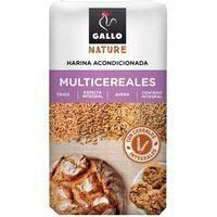 Harina multicereales nature GALLO, paquete 900 g