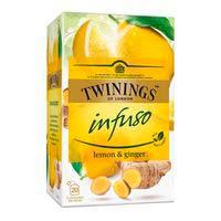 Infusió lemon&ginger TWININGS, caixa 20u