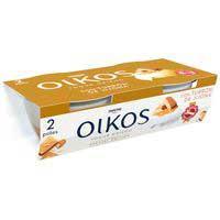 Iogurt grec de torró Xixona, ametlles i caramel OIKOS, pack 2x115 g