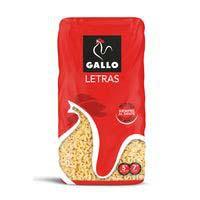 Pasta de letras GALLO, paquete 450 g