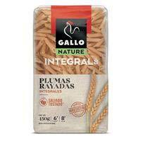 Plumas rayadas integrales GALLO, paquete 450 g