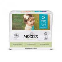 Pañal 13-18 kg Talla 5 MOLTEX Pure&Nature, paquete 44 uds