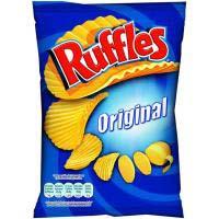 Patatas onduladas RUFFLES Original, bolsa 160 g