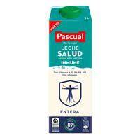 Llet sencera salut immune PASCUAL, bric 1 litre