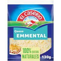 Queso rallado Emmental EL CASERIO, sobre 130 g